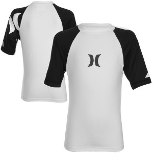 Lycra HURLEY Only & Only White S/S Rashguard t:XL