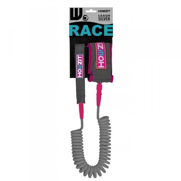 Leash 9 39 howzit coil race 9 39 silver pink for Coil porte rapide