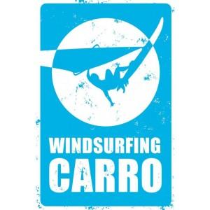 Plaque Décoration Métal Windsurfing Carro