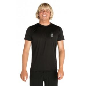 T-shirt anti-UV  RIP CURL Search Logo BLACK