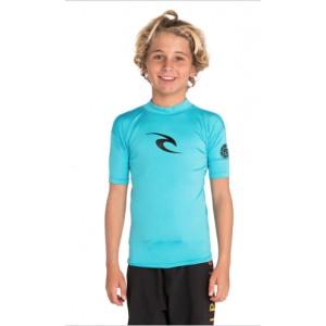 Tee-shirt anti-UV RIP CURL Junior Corpo TURQUOISE