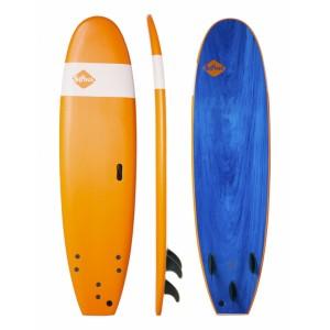 "Surf Mousse SOFTECH Handshaped 7'6"" Orange/Blue Marble"