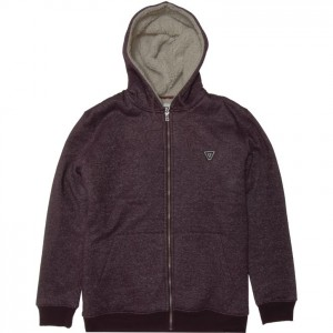 Veste VISSLA The Trip Sherpa Zip Hoodie Burgundy Heather