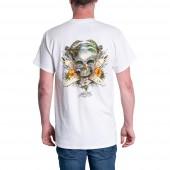 T-shirt Rietveld Surf Skull Blanc